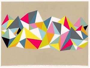 Abstract Art- Geometric Print- Wall Art- Triangle ...