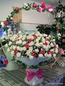 prsentoir panier pour contenant a dragees supports vente With affiche chambre bébé avec corbeille de fleurs mariage