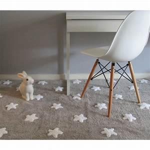 Tapis Etoile Gris : tapis enfant gris etoiles lavable lorena canals ~ Teatrodelosmanantiales.com Idées de Décoration