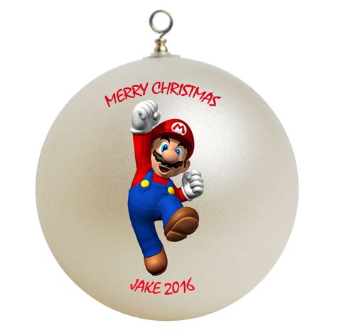 personalized super mario christmas ornament gift ornaments