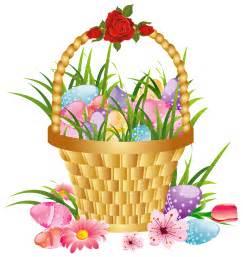 Free Easter Basket Clip Art Flowers