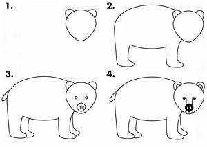 how to draw a black bear for kids | draw_bear | Wildlife ...