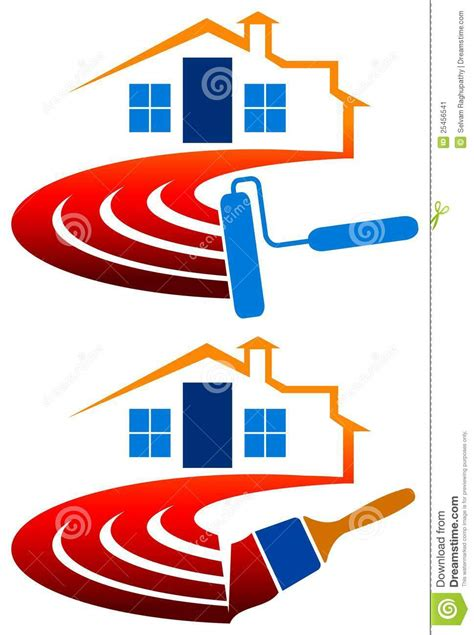 house painting logo stock vector image  colors repair