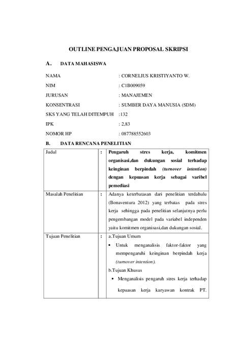 Contoh Proposal Skripsi Manajemen Sdm - Simak Gambar Berikut