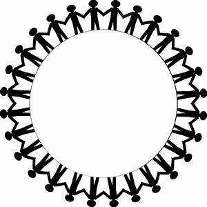 Circle Holding Hands Stick People Black Clip Art at Clker ...