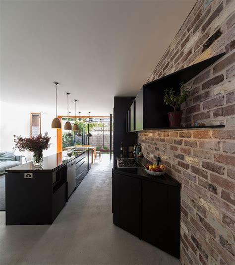 budget family home  sydney  reclaimed bricks concrete  tile
