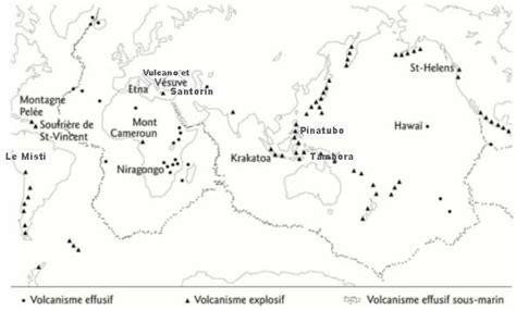 Carte Des Volcans Actifs Dans Le Monde by Gracieuset 233 De