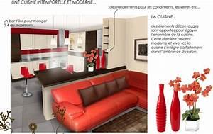 Idee Deco Cuisine Ouverte : deco salon et cuisine ouverte ~ Preciouscoupons.com Idées de Décoration