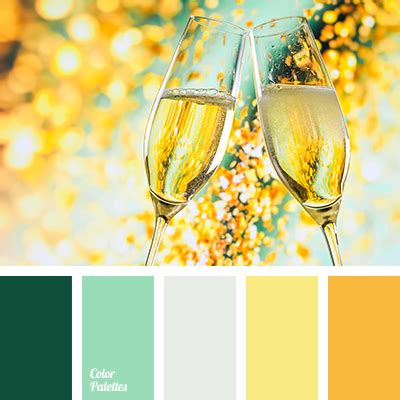emerald green  gold color palette ideas