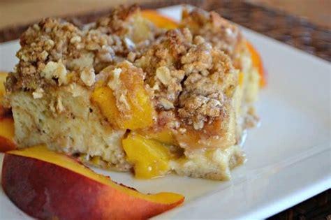 Peaches Cream Baked French Toast Days Baking