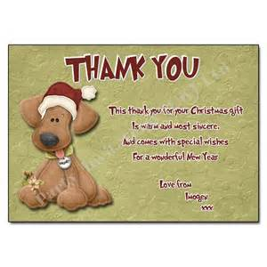 yappy christmas thank you note