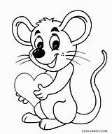 Mouse Coloring Pages Cute Printable Animal Mice Cartoon Cool2bkids Sheets Sheet Clipart Comic Template Disney Minnie sketch template