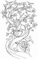 Cherry Blossom Coloring Tree Japanese Pages Printable Drawing Getcolorings Blos sketch template