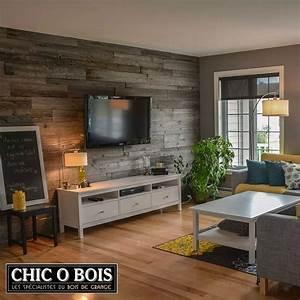 Idee Meuble Tv Fait Maison : pour un rev tement de mur en bois de grange un meuble en bois de grange ou des accessoires ~ Melissatoandfro.com Idées de Décoration