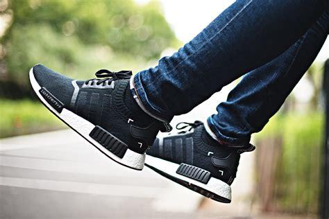adidas nmd r1 primeknit black japan sneakers addict