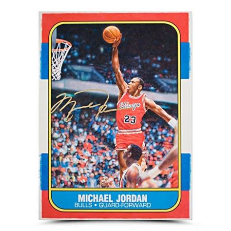 Get the best deal for michael jordan rookie basketball trading cards from the largest online selection at ebay.com. Michael Jordan Autographed Original Fleer Rookie Card Art