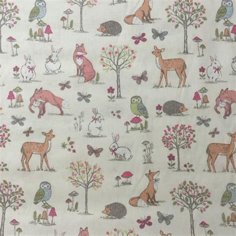 Woodland Animal Wallpaper Uk - discover direct lifestyle woodland cotton fabric animal