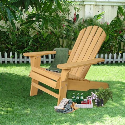 Outdoor Deck Chairs by New Outdoor Fir Wood Adirondack Chair Patio Lawn