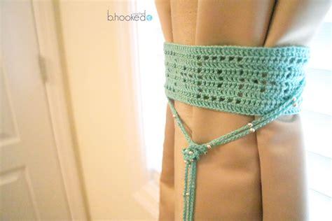 filet crochet curtain tie free pattern b hooked crochet