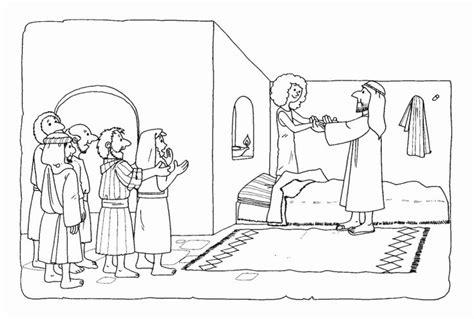 Het Dochtertje Jairus Kleurplaat by Coloriages Bible Levangelisation Section