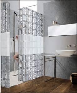 salle de bain brique de verre inspiration brique de verre