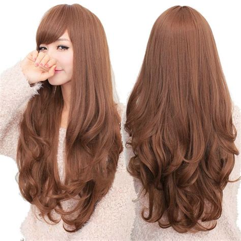 details  fashion long curly wavy wigs cosplay womens