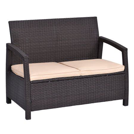 loveseat cushions for outdoor furniture outdoor rattan loveseat bench chair with cushions