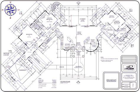 craftsman houses plans big house floor plan large plans architecture plans 4063