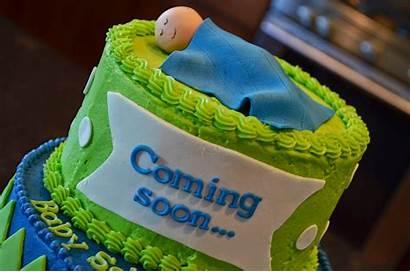 Cake Coming Soon Shower Tier Homemade Mama