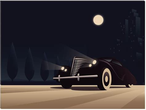 deco car poster vector architecture style design cars deco and graphics