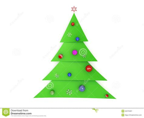 3d christmas tree stock illustration image of merry