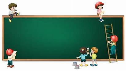 Greenboard Empty Vector Around Background Poster Blank