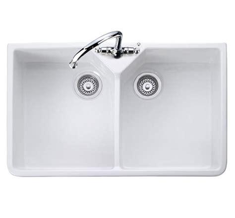 rangemaster double bowl belfast white ceramic kitchen sink