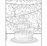 Coloring Dessert Pack Printables sketch template