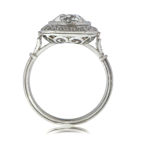 deco style engagement rings deco style engagement ring with halo