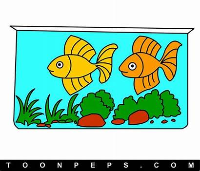 Aquarium Fish Drawing Clipart Draw Getdrawings Step