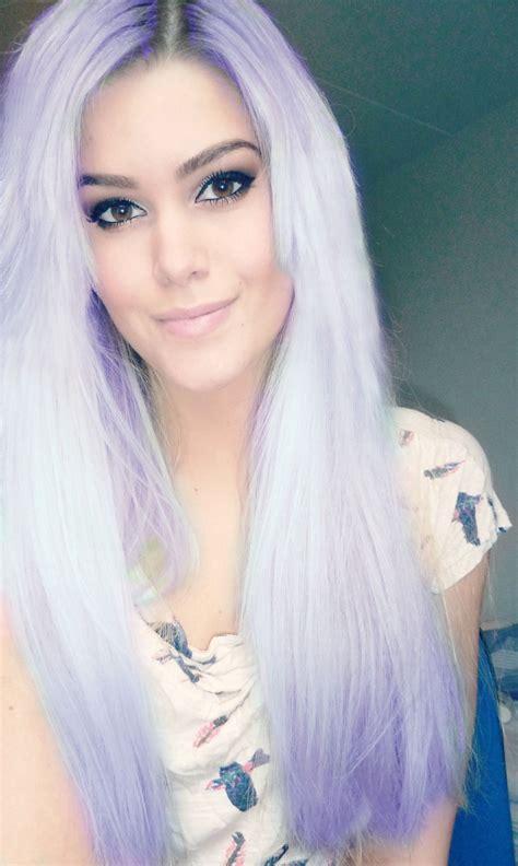 Photoshopped Pastel Hair Lavender Brookes Dream Hair