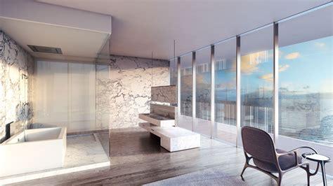 glass luxury condos bathroom  build homesnew build homes