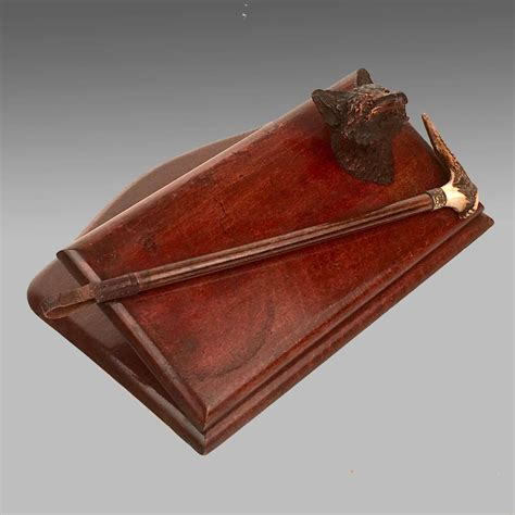 antique mahogany folding wall hanging rack  antique games sporting