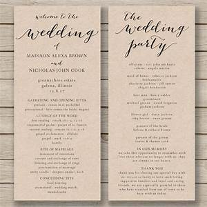 wedding program template printable by hopestreetprintables With programs for wedding ceremony template