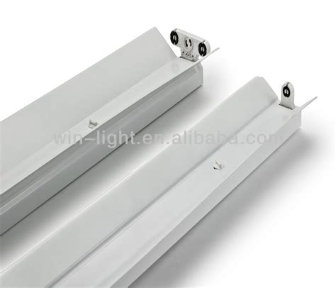 single t8 fluorescent l fixture without ballast view