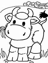 Cow Coloring Pages Printable Domestic Animal Printables sketch template