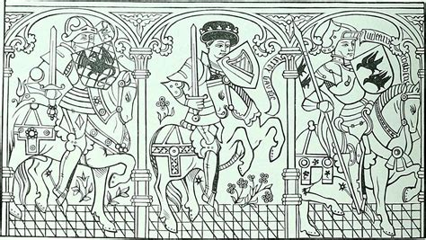 coloring pages   middle ages medievalistsnet