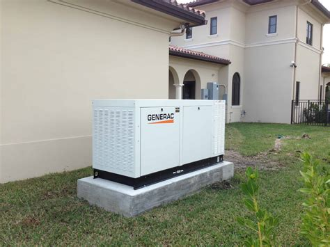 70kW Generac Liquid-Cooled Generator installed in Coral Gables
