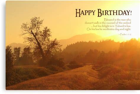 blessed   man birthday card canvas print