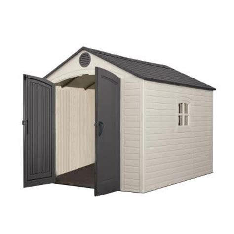 lifetime 8 ft x 10 ft storage plastic shed 60115 the