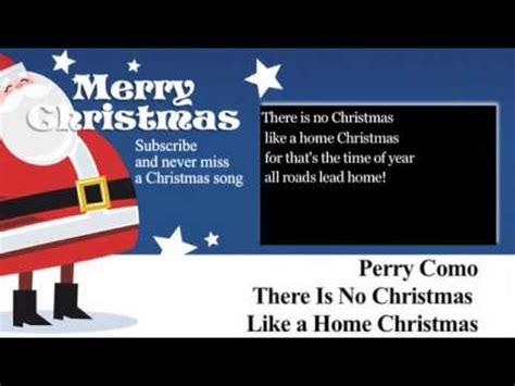 perry como christmas lyrics perry como there is no christmas like a home christmas
