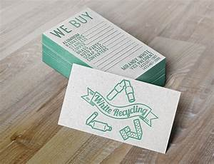 w for white recycling eclectrick ink With mu business cards