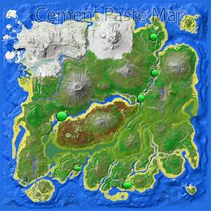 Cement Paste Map The Island Ark Survival Evolved