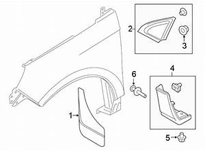 2016 Ford Edge Mud Flap Kit  2015-18  2019  Guard  Front